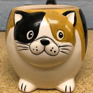 Gibson Calico Cat Mug Ceramic with Feet